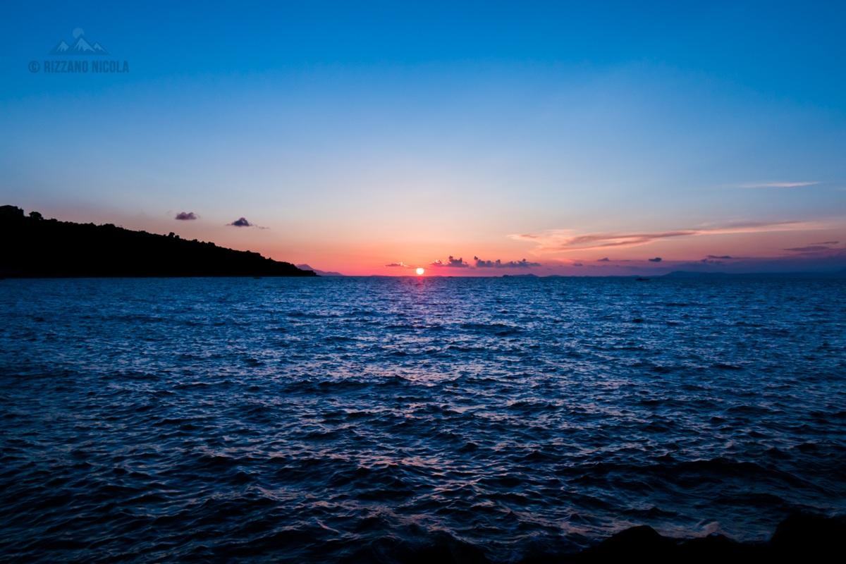 Sunset at sea...