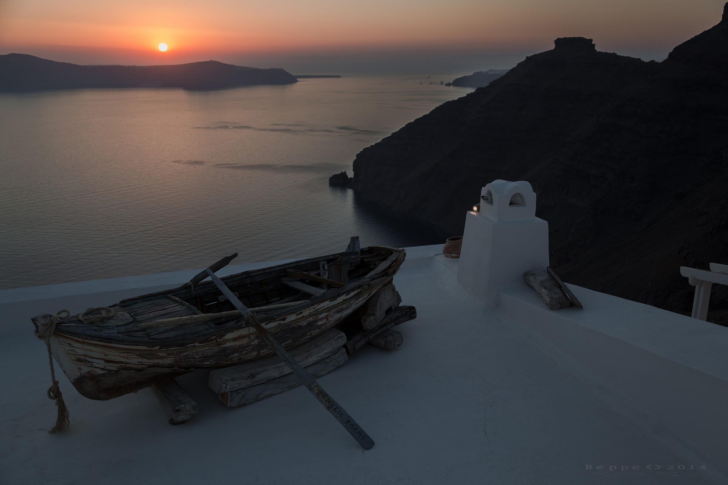 Santorini, boat...