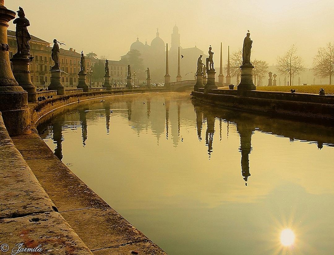 Prato della Valle, Justina's Basilica in Padua, the f...
