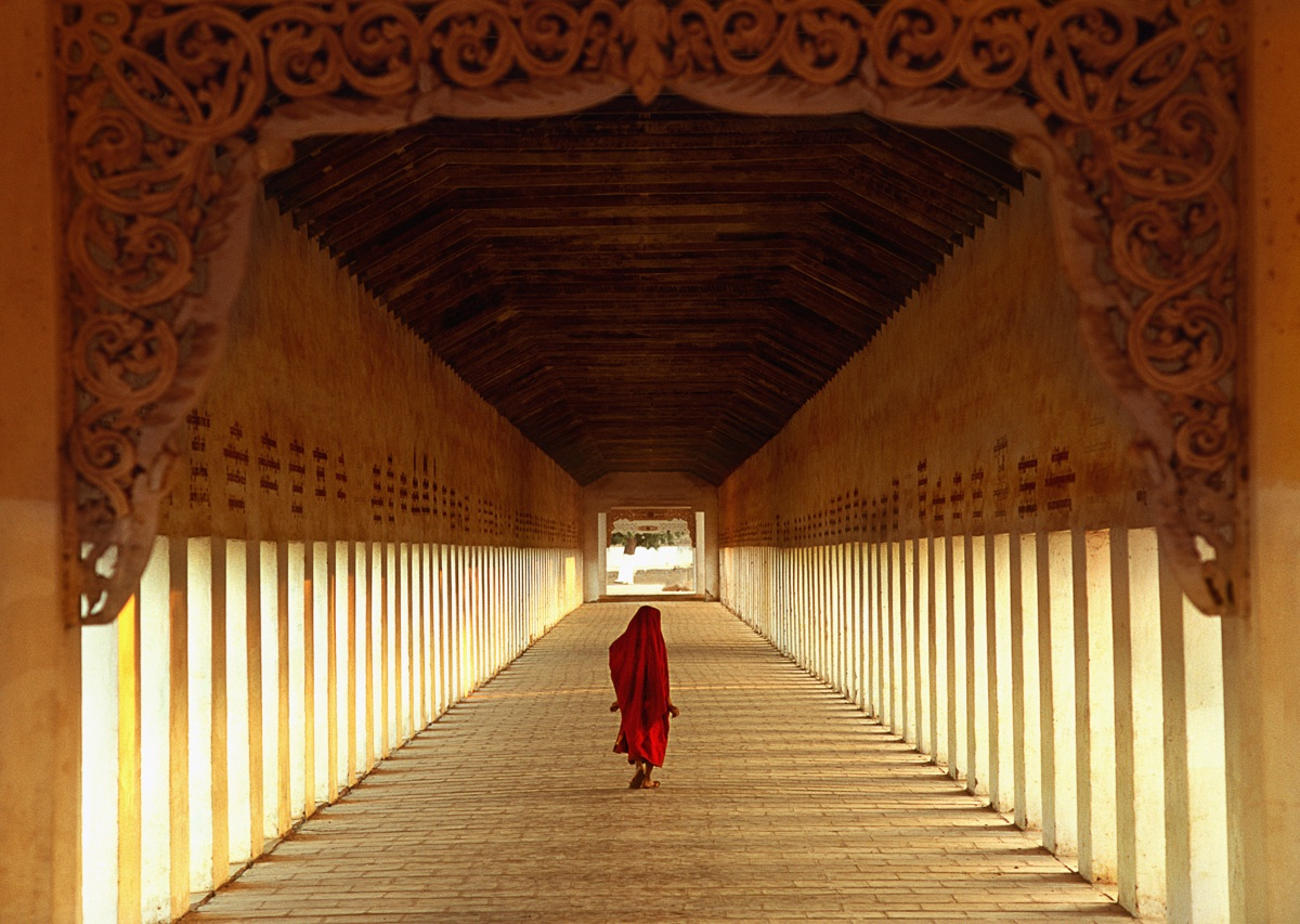 The Burmese monk...