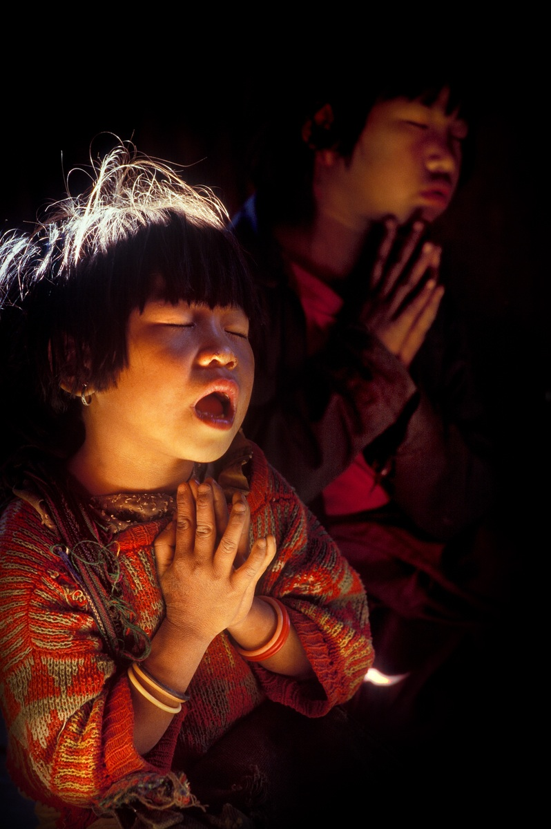 Shan State - Palaung ethnic group, the Prayer...