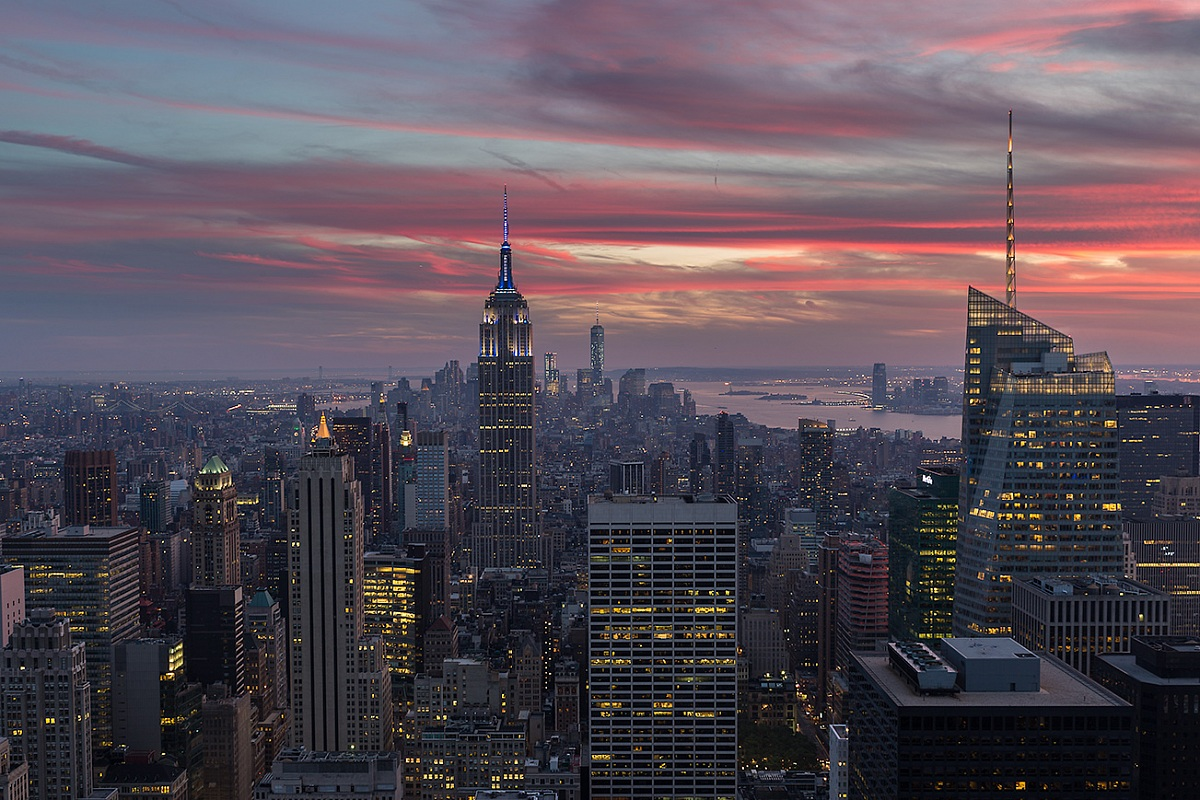 sunset from the top of the rock...