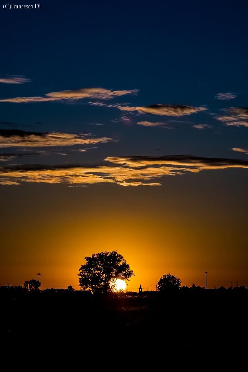 Limpido tramonto  a Gainago...