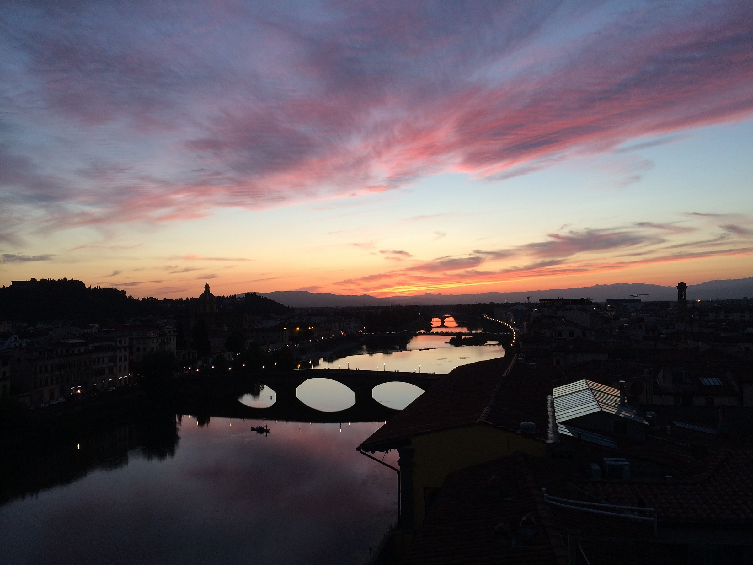 Florence Sunset on the Arno...