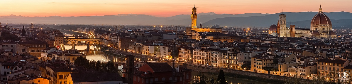 Florence shines at sunset...