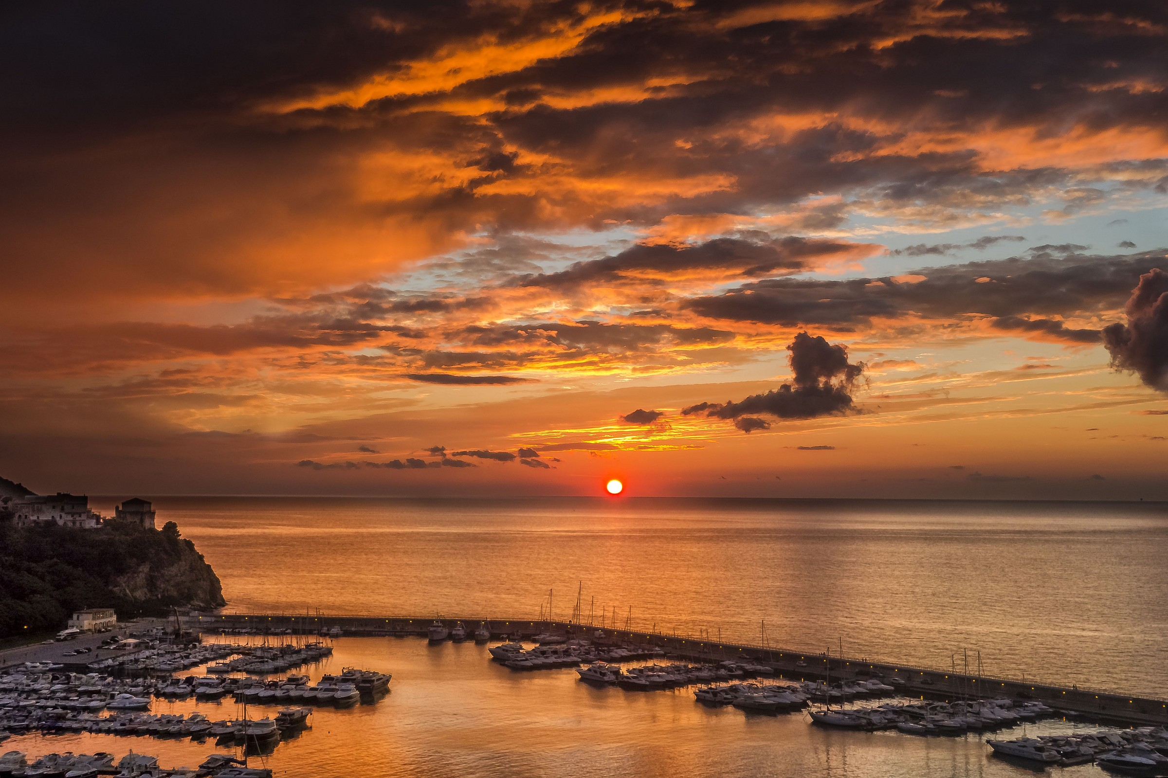 sunset at the port of agropoli 2...