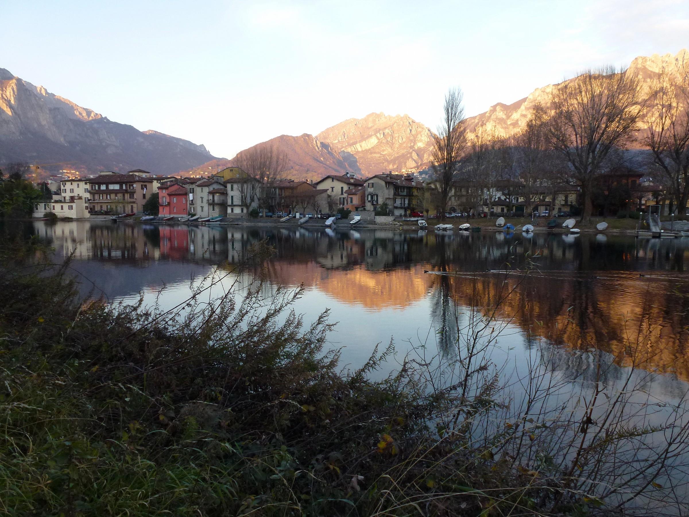 Pescarenico, tramonto invernale...