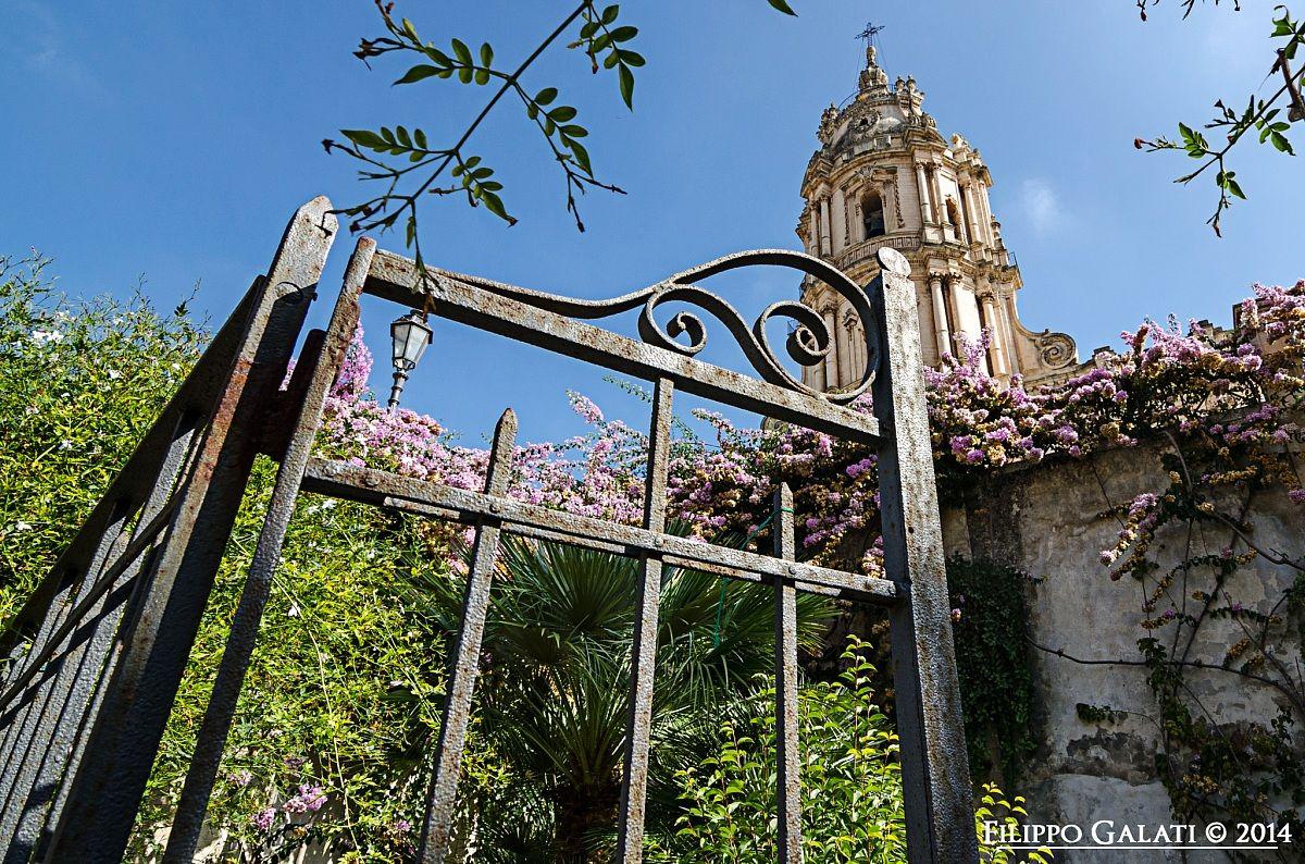 The garden of the church of S. Giorgio...
