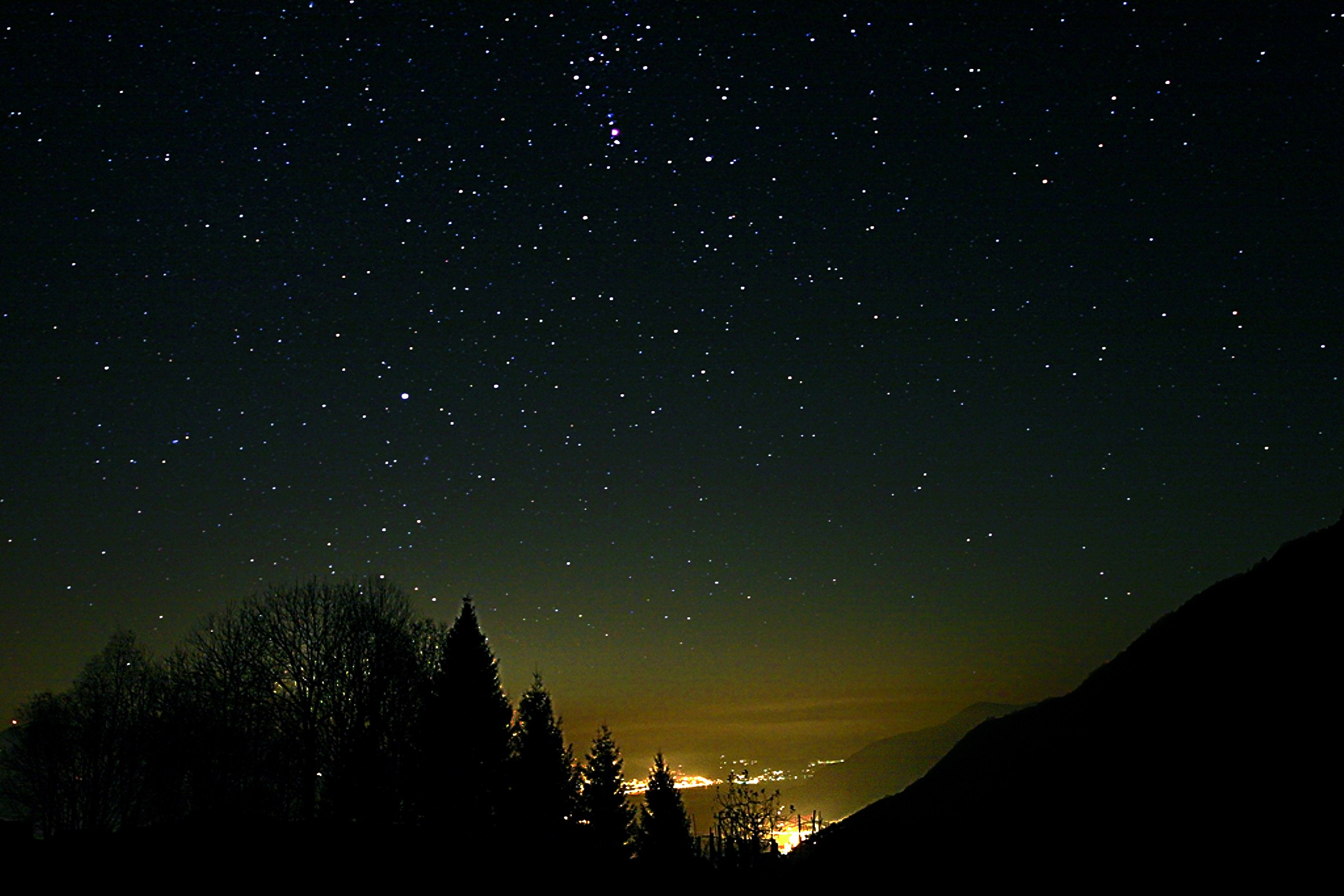 Starry Night over Luino and Cannobio...