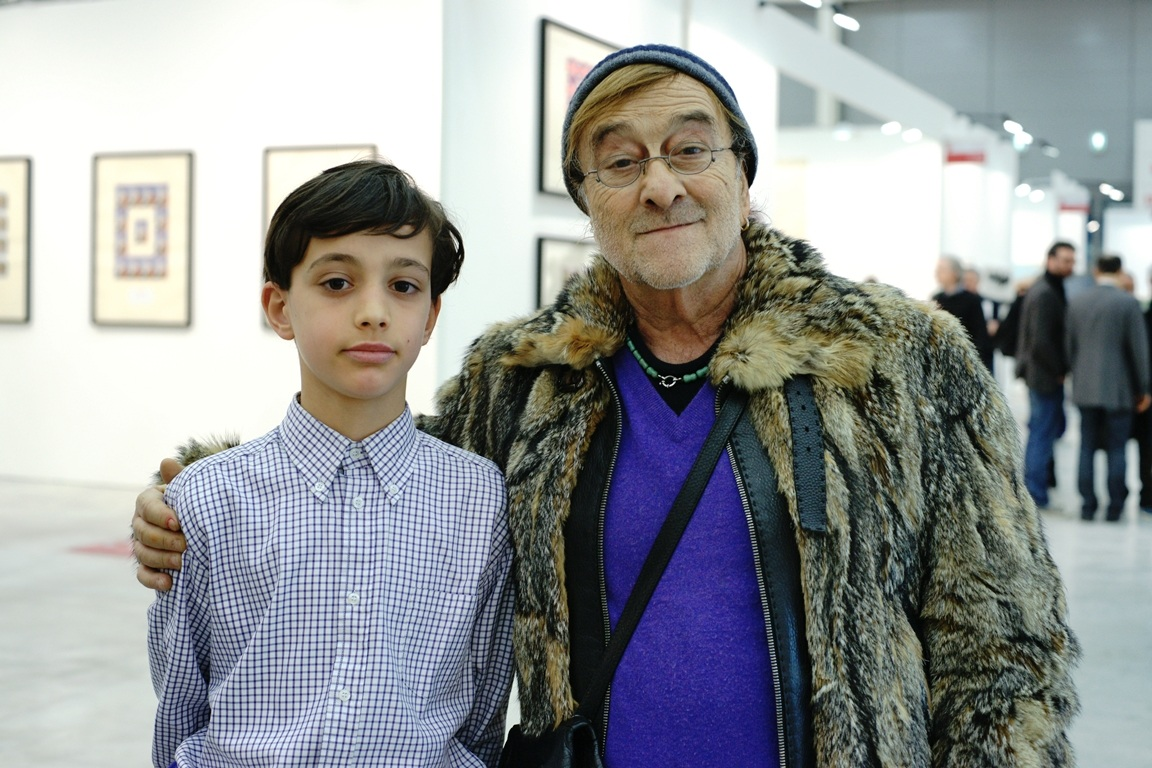 my son with great and unforgettable Lucio Dalla...