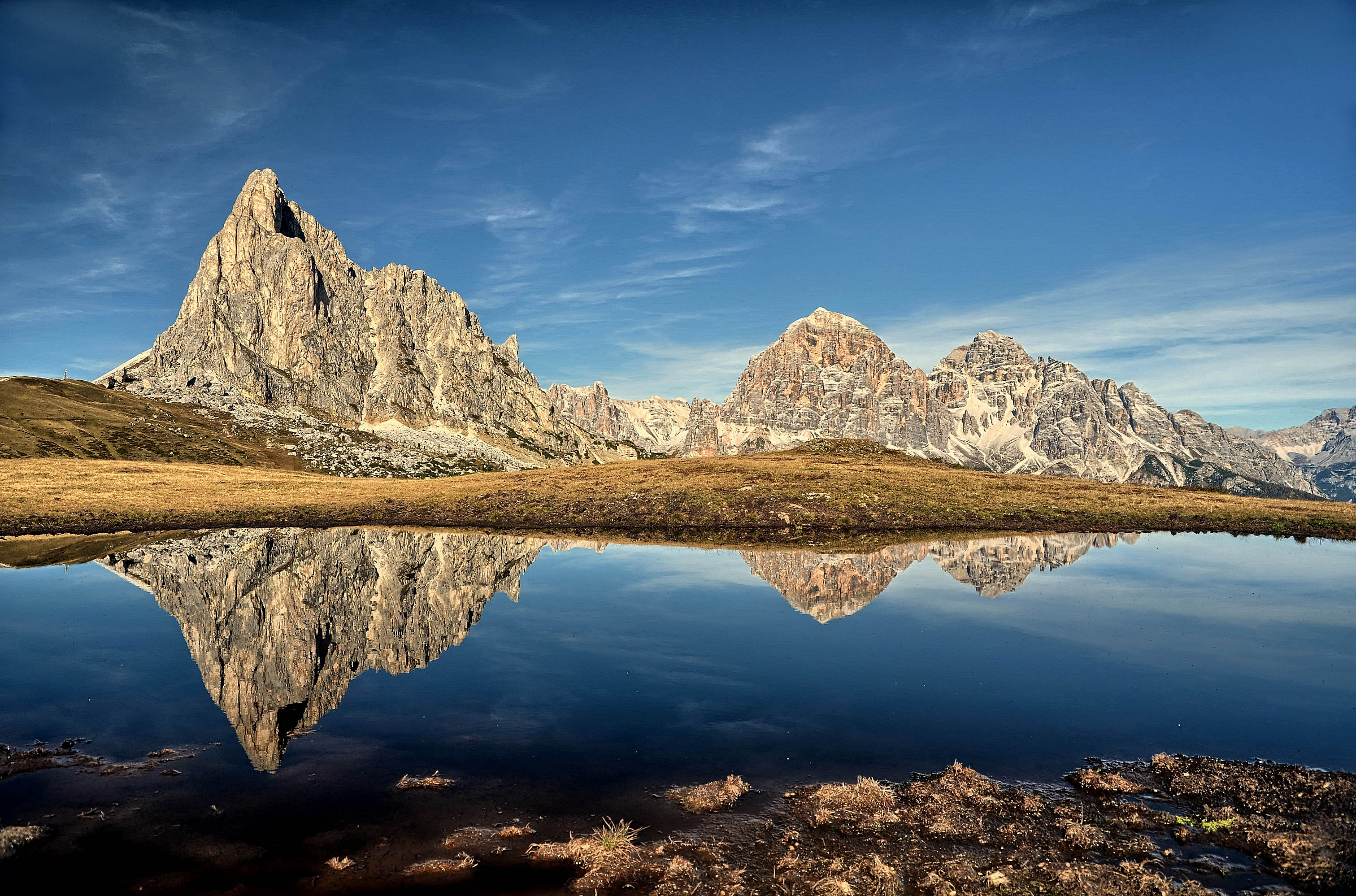 Reflections on the Passo Giau...