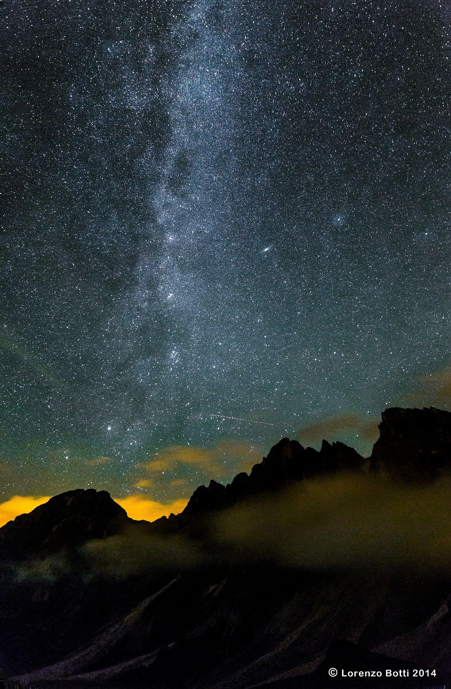 Pale di San Martino notturna...