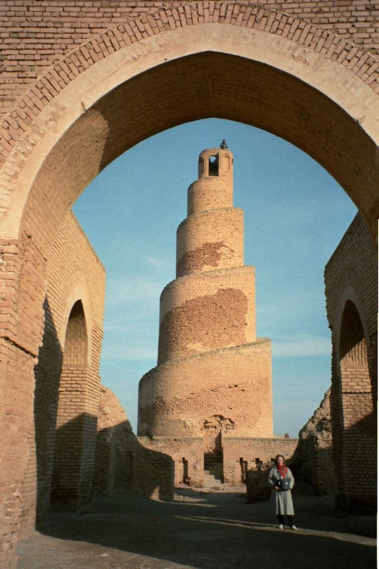 the spiral minaret of Tikrit...