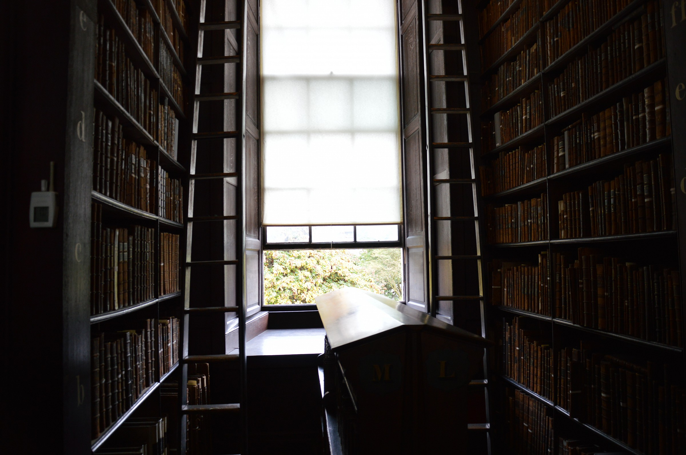 La luce nella Long Library - Dublino...