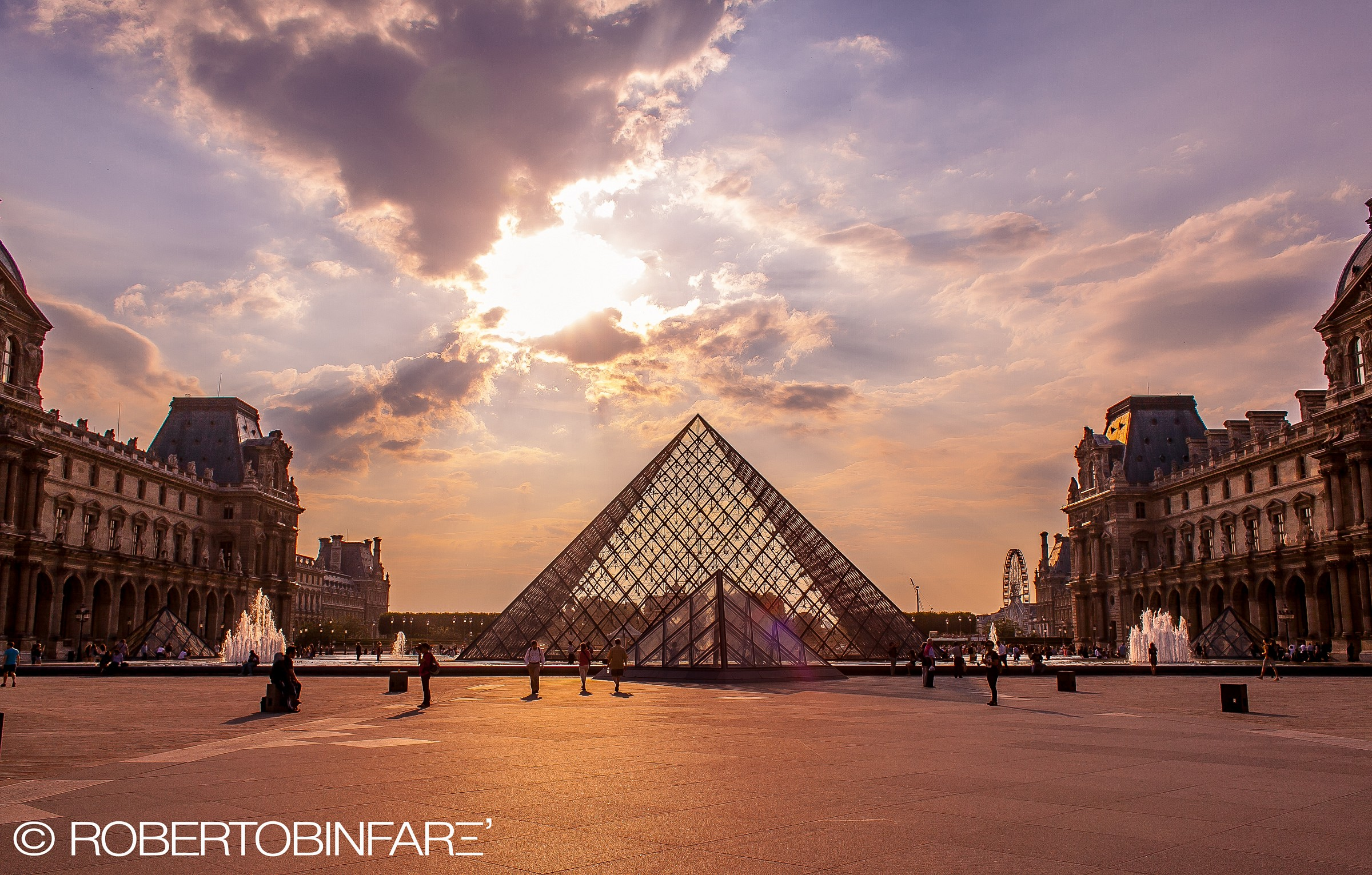 The Pyramids at the Louvre...