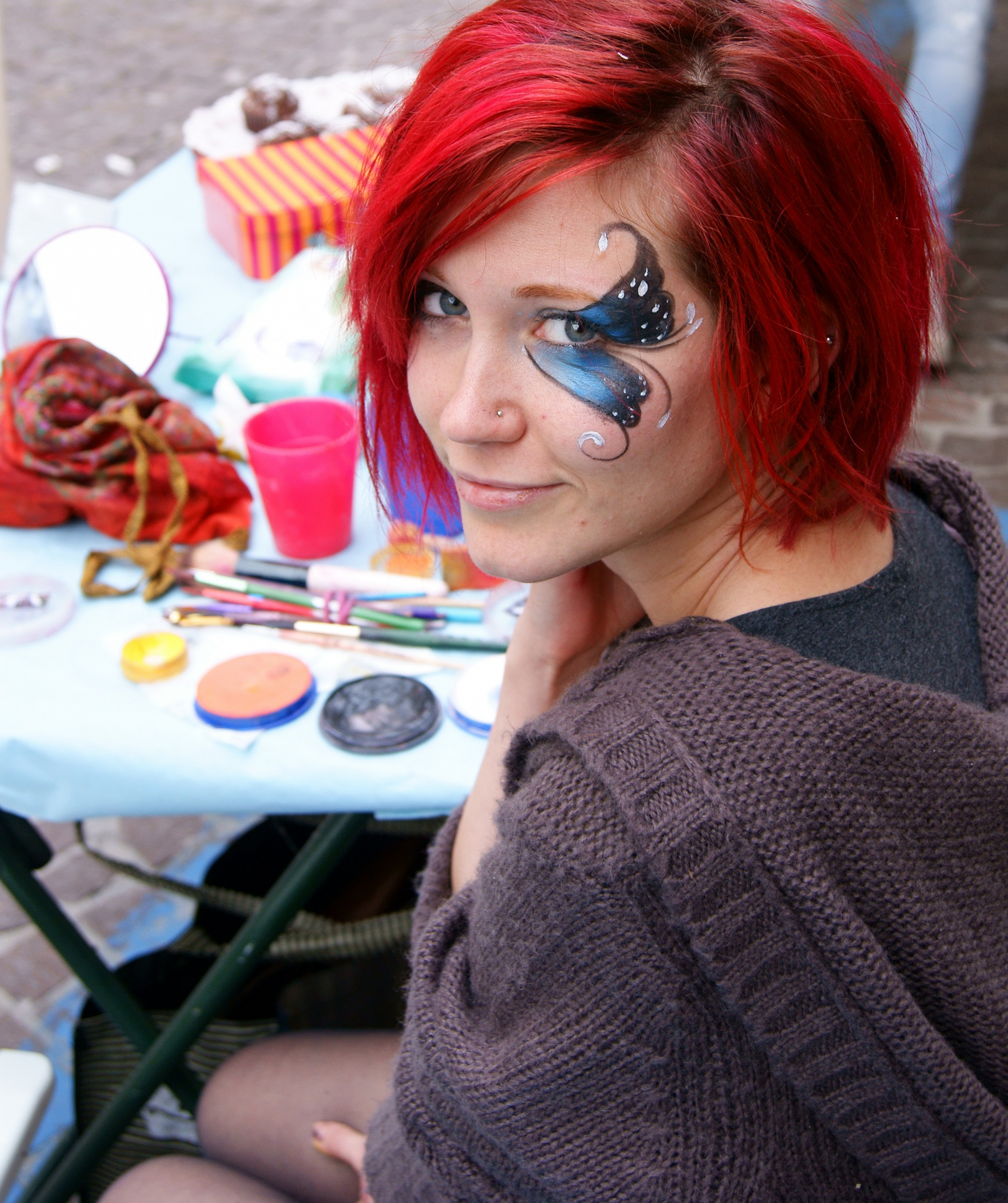 The face painting ......