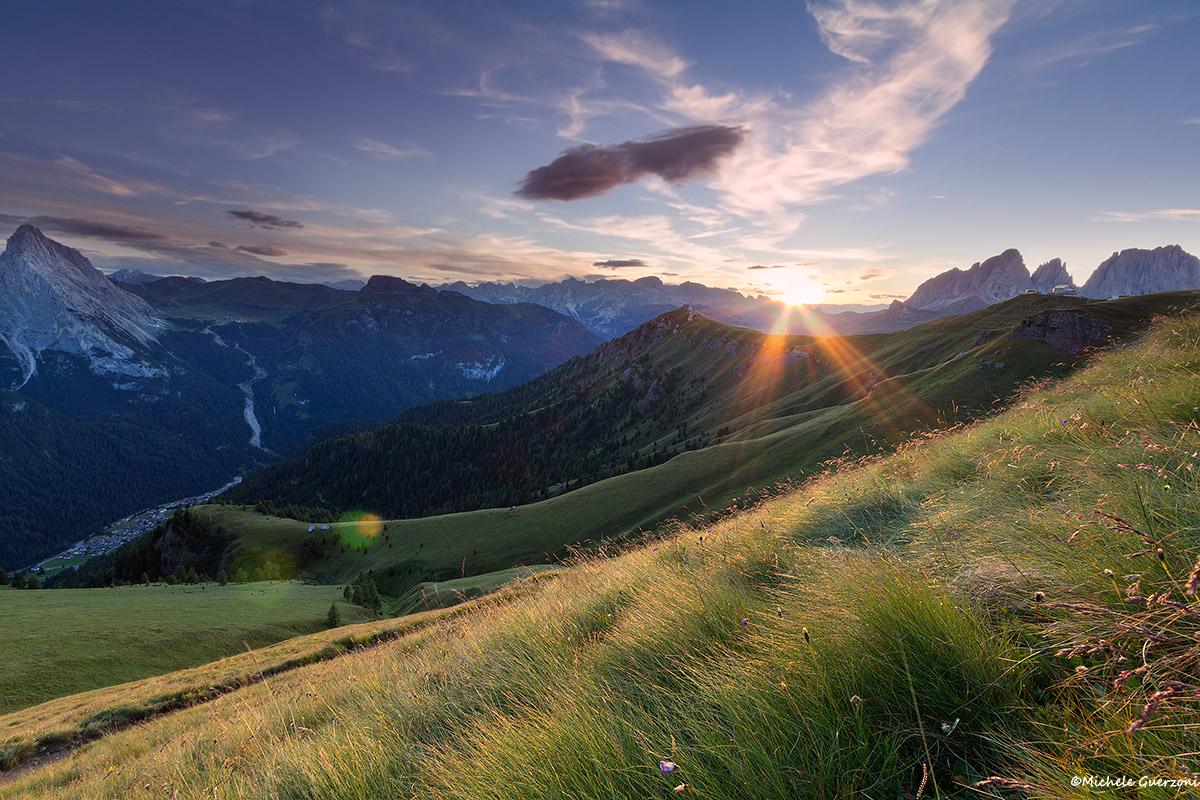 A sunset on the Marmolada...