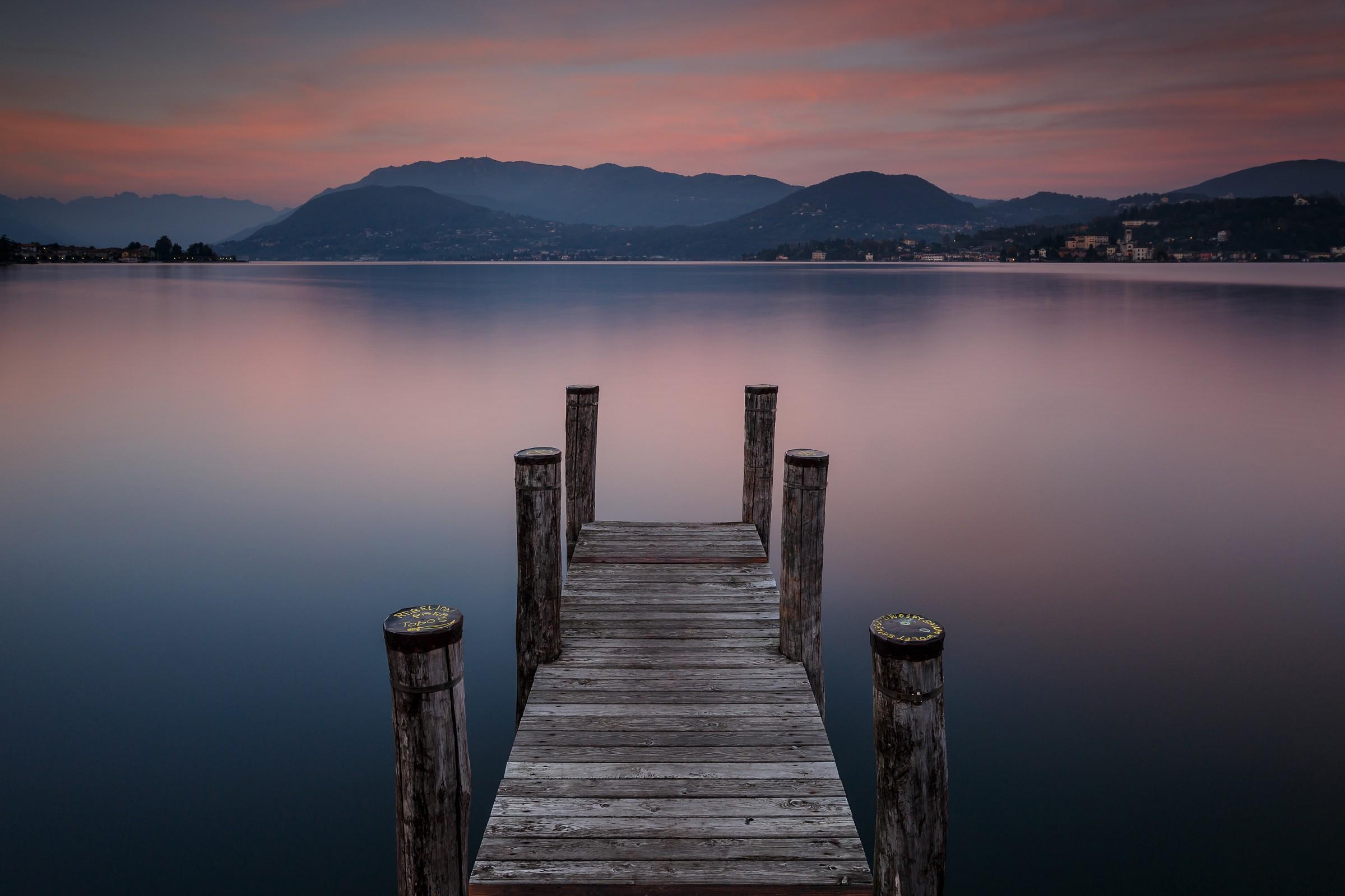 Sunset in Pella - Lake Orta...