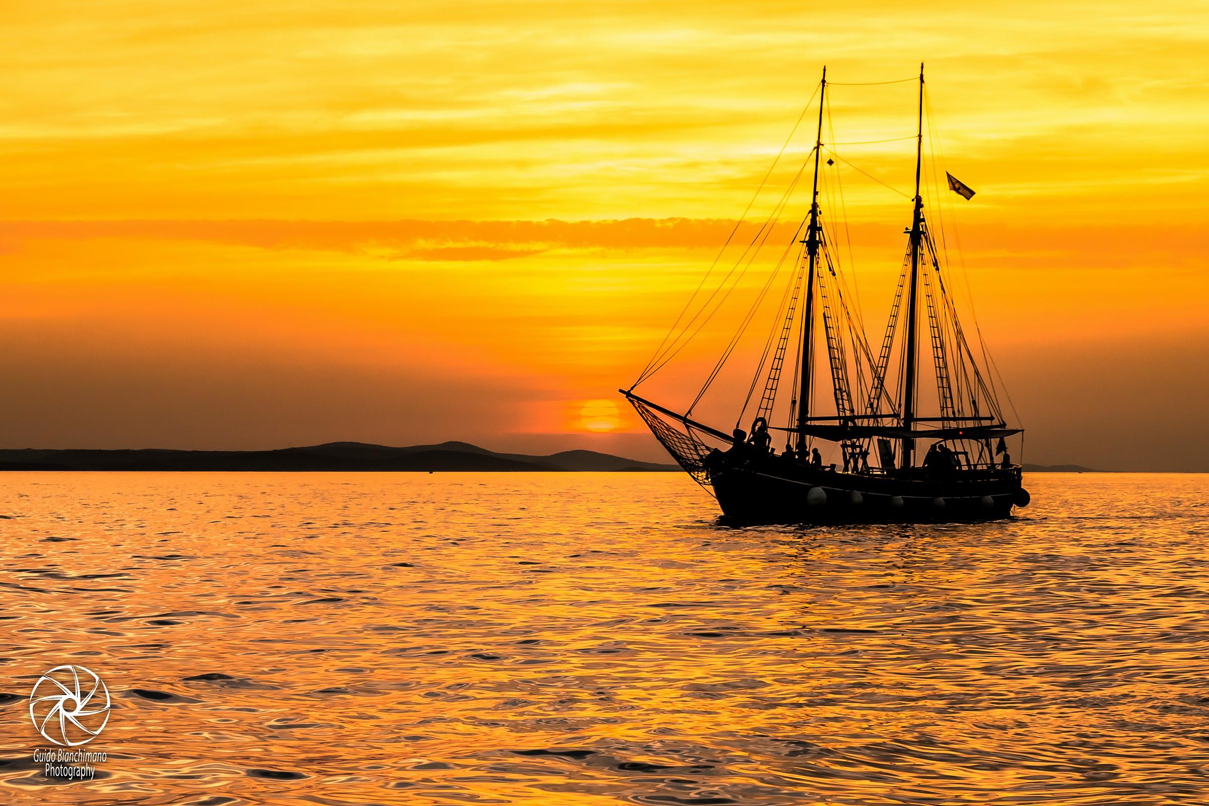 Pirates ....... at sunset ......