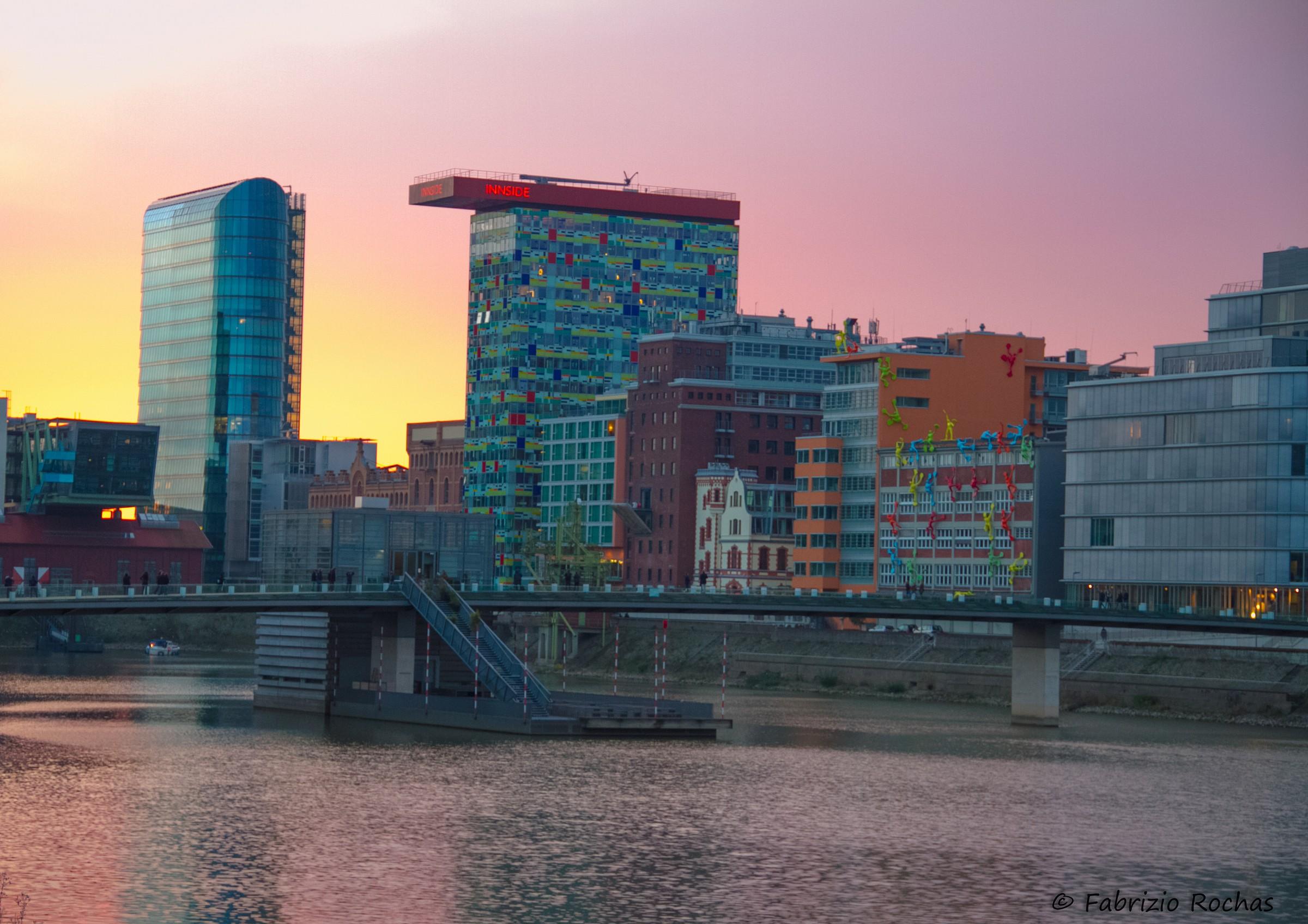 Sunset in Dusseldorf...