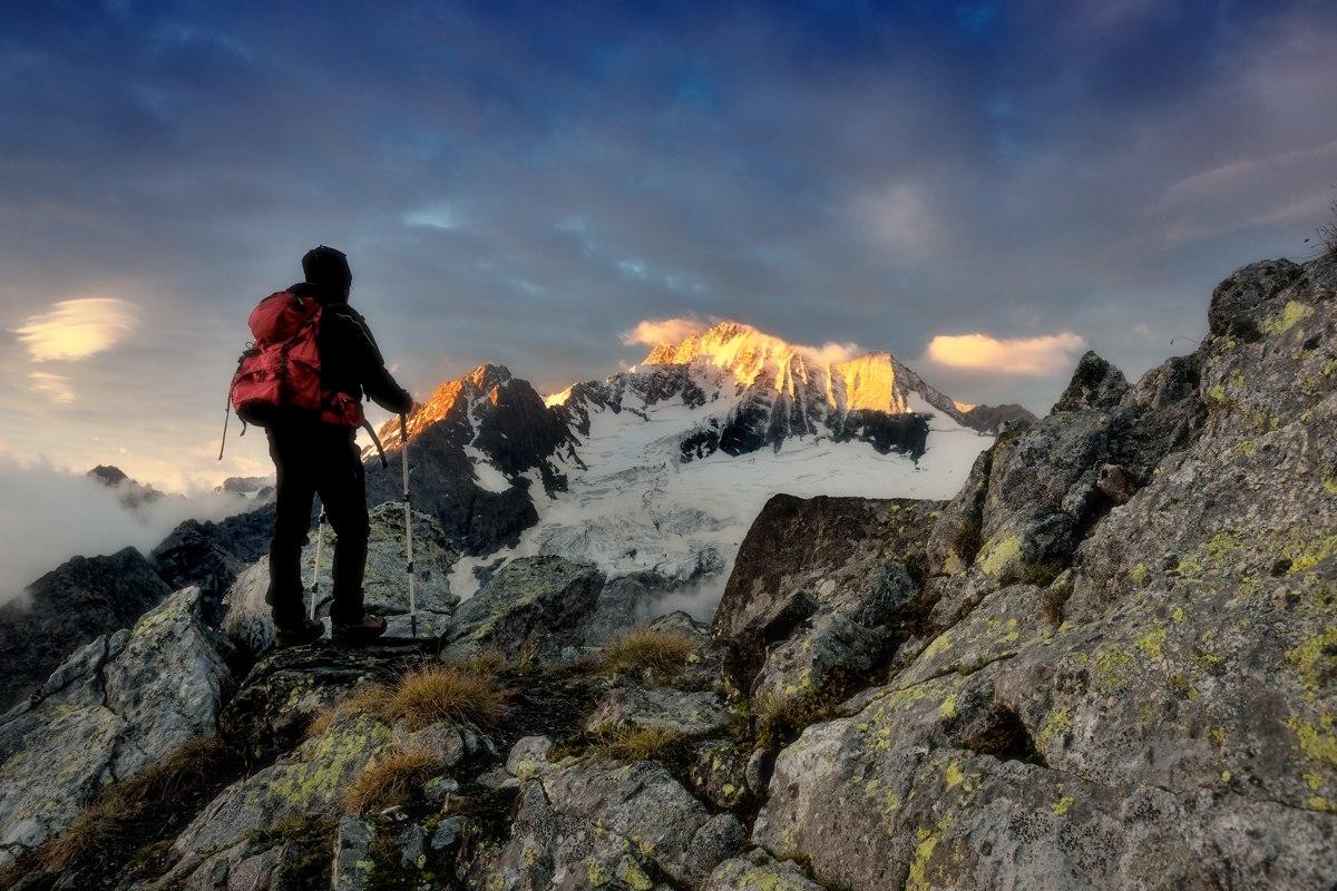 Mount 'misfortune, Rhaetian Alps...