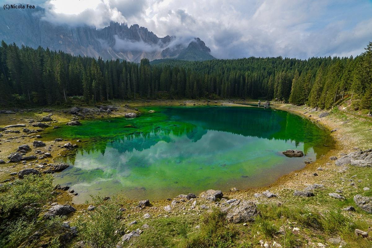 The emerald lake...