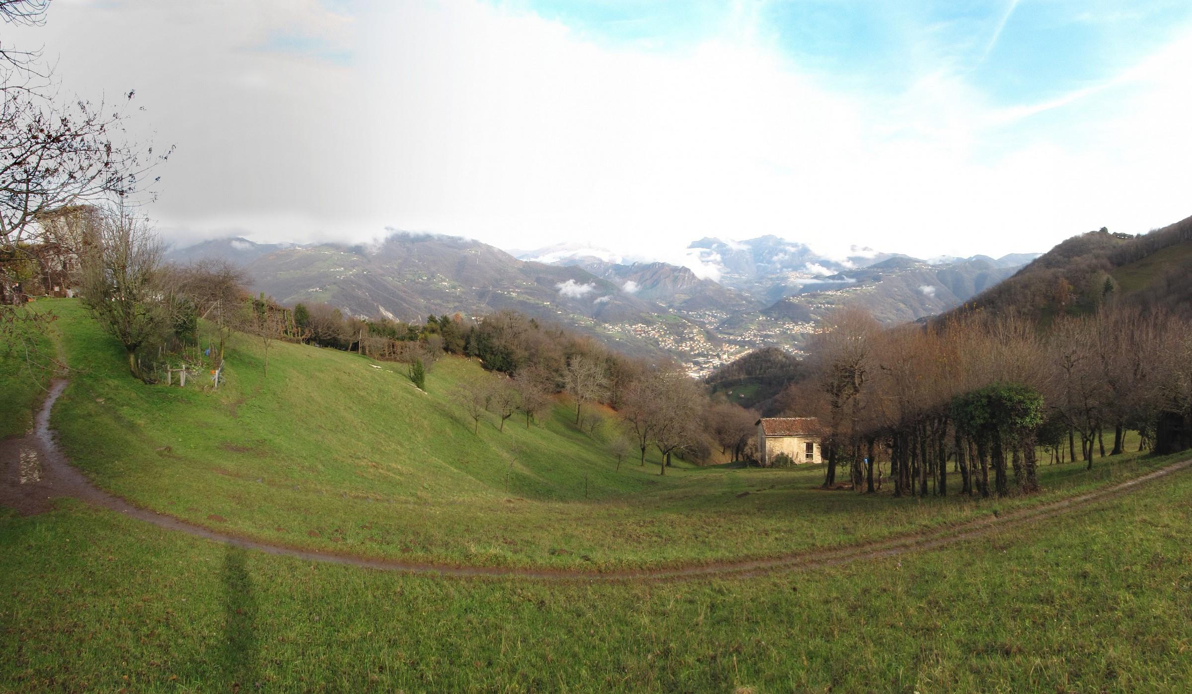 Panorama of Val Brembana from Prati Parini...