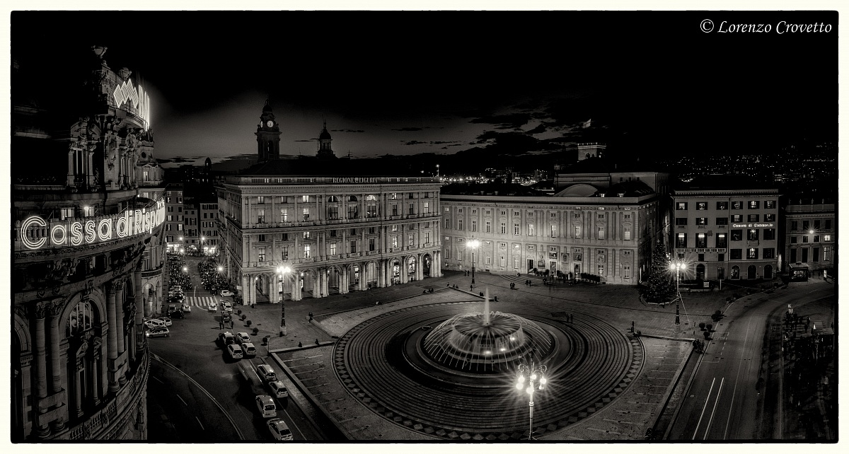 Genoa, The Dark De Ferrari Square...