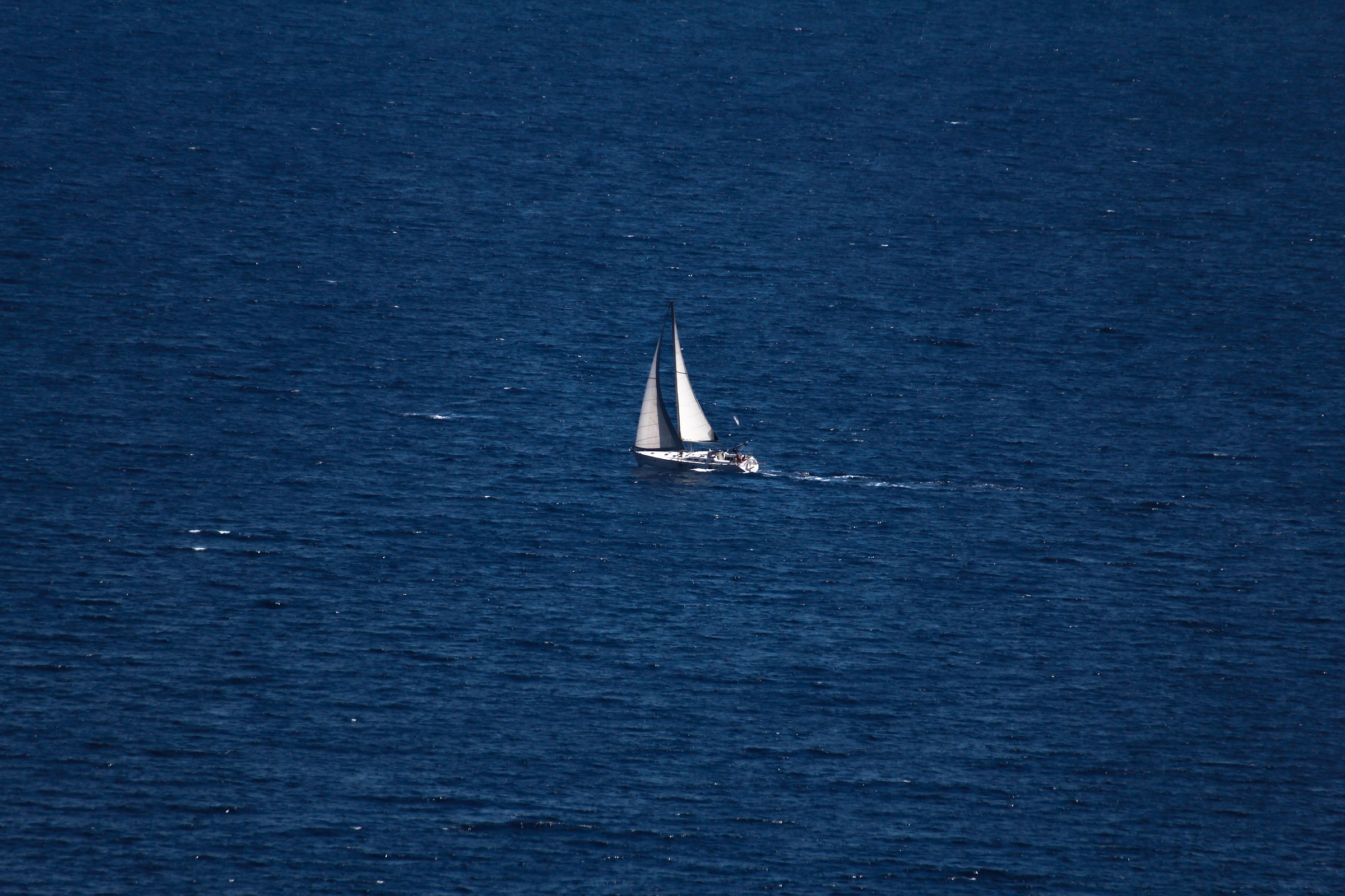 into the blue...