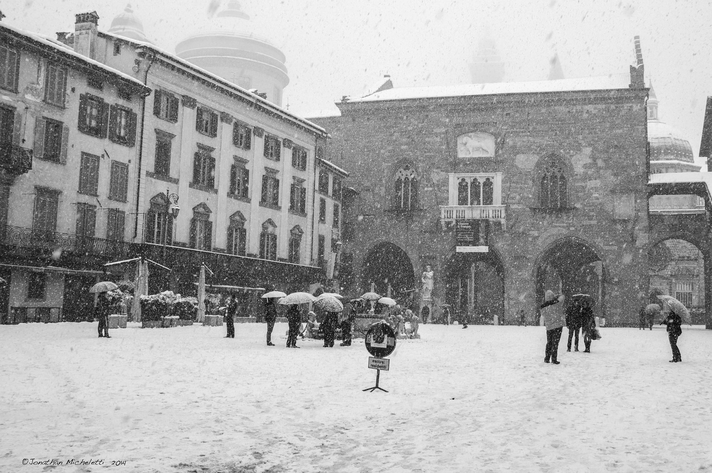 Bergamo Alta innevata...