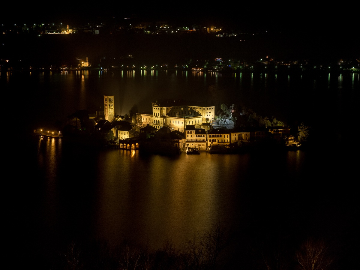 Orta San Giulio Island view from the Sacred Mountain...