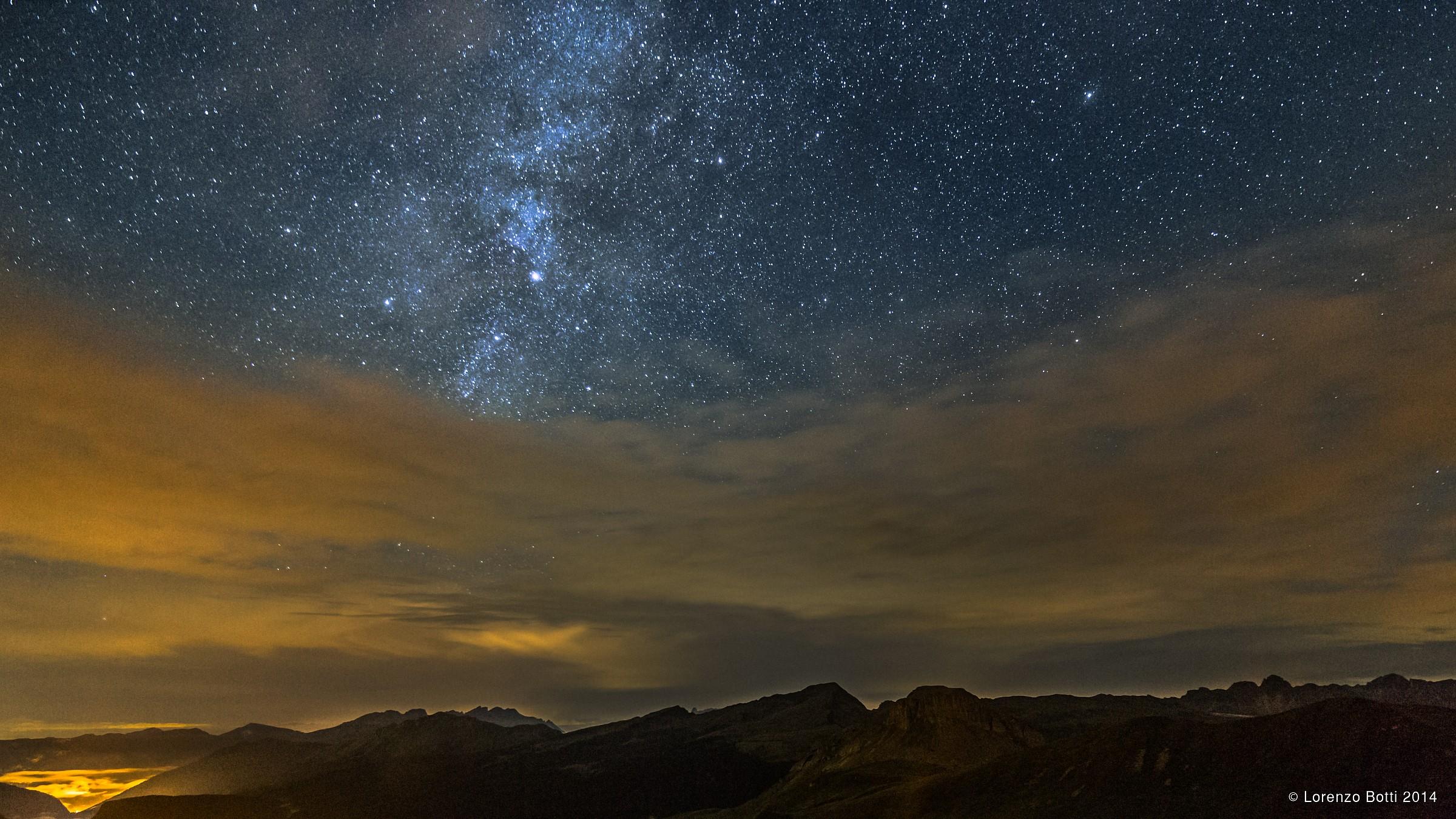 Notte sulle Pale di San Martino...