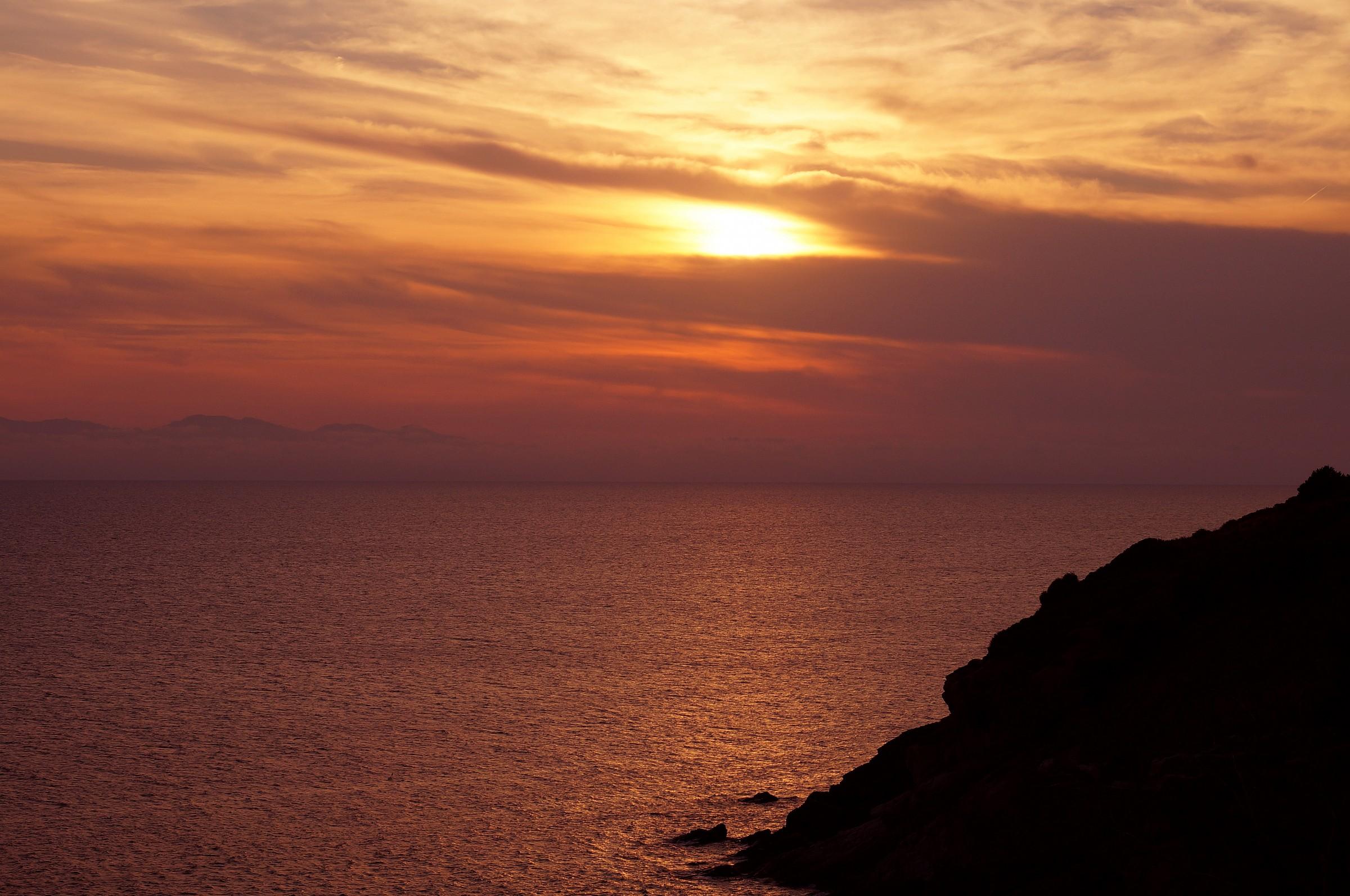 Sunset in Pomonte...
