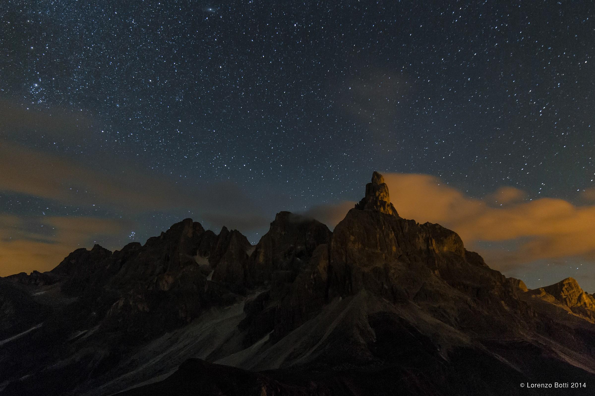 Pale di San Martino notturna 2...