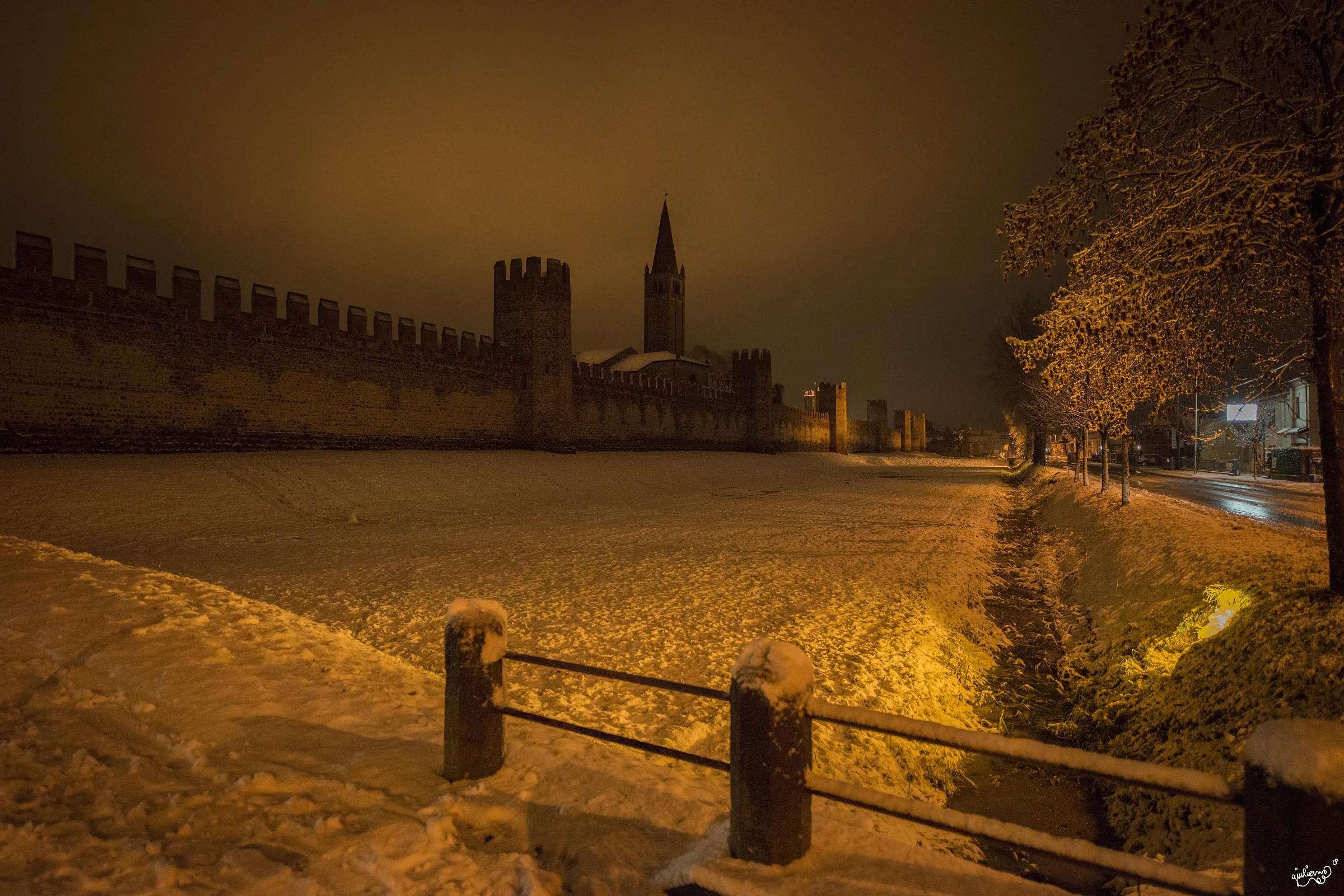 Montagnana with snow...
