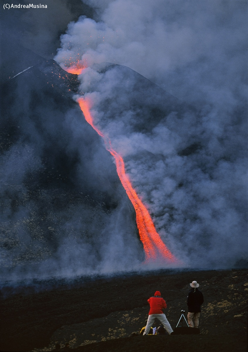 Etna volcanic cone with casting....