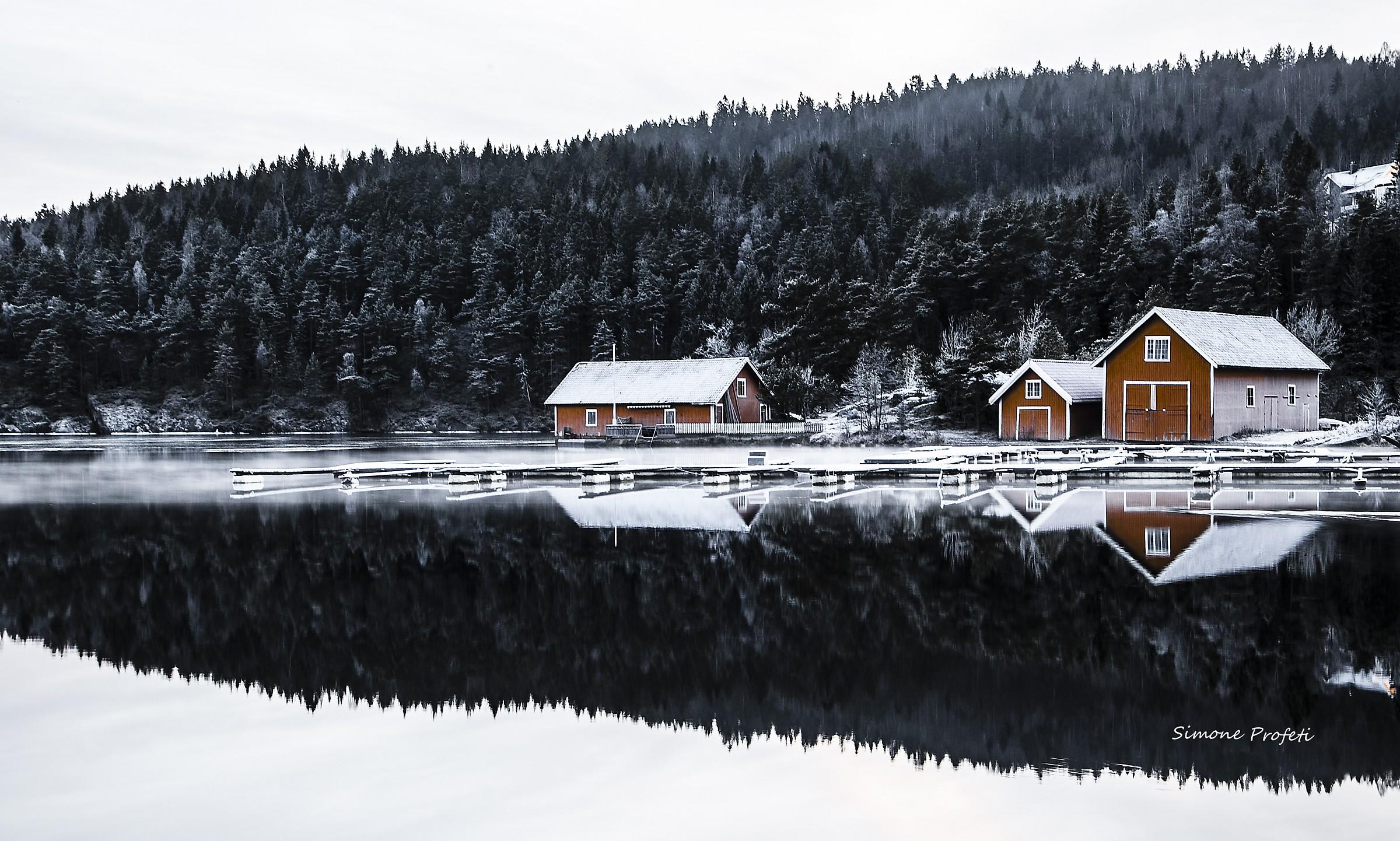 Sulle rive del Fiordo-Norway-Porsgrunn...