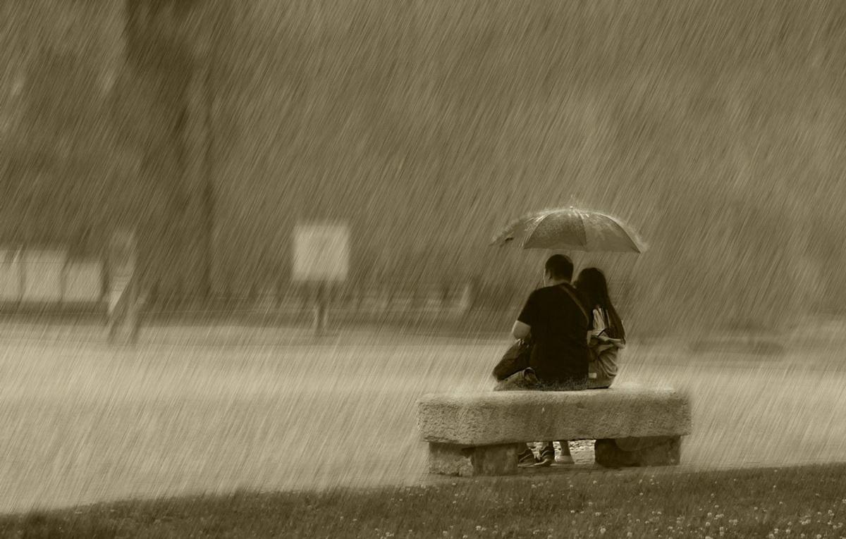 Loving in the rain...