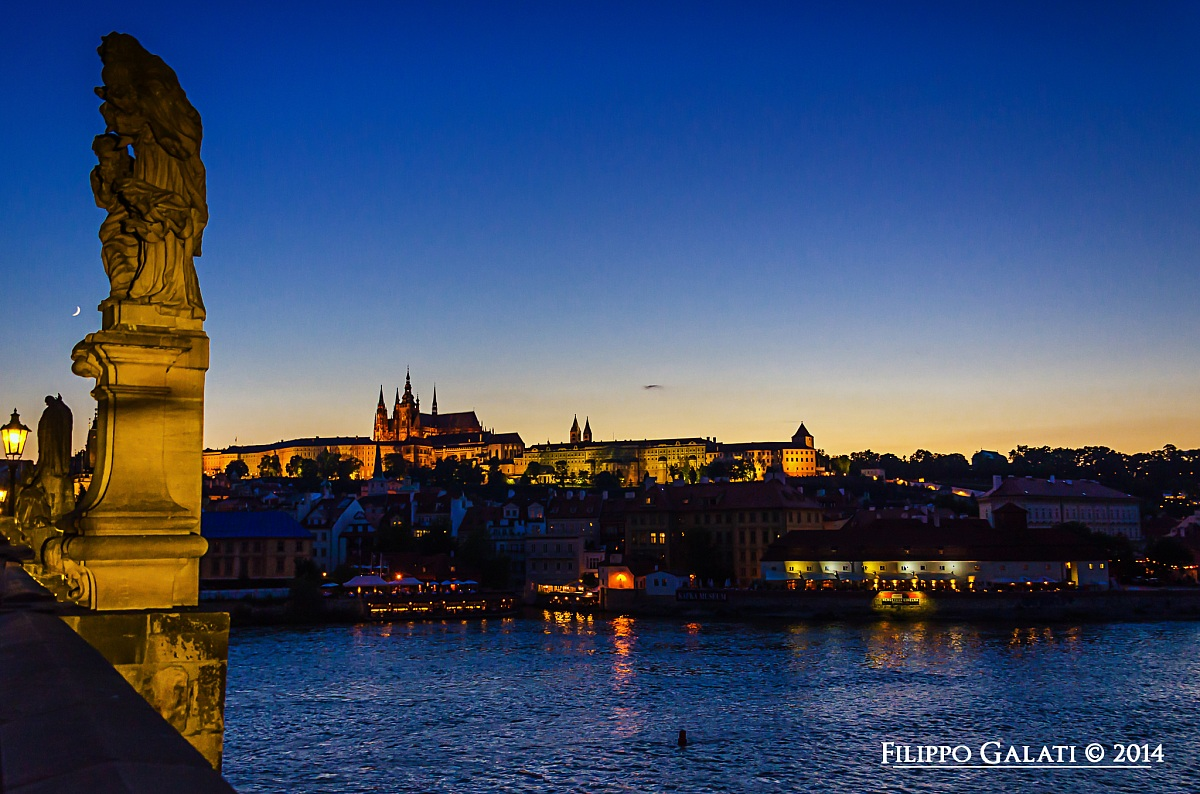Sunset over Prague...