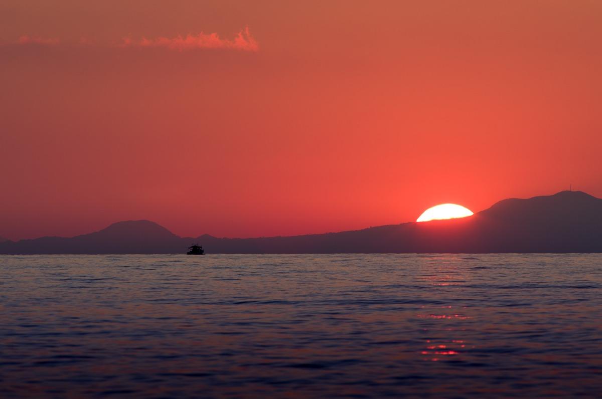 Sunset in Lipari...