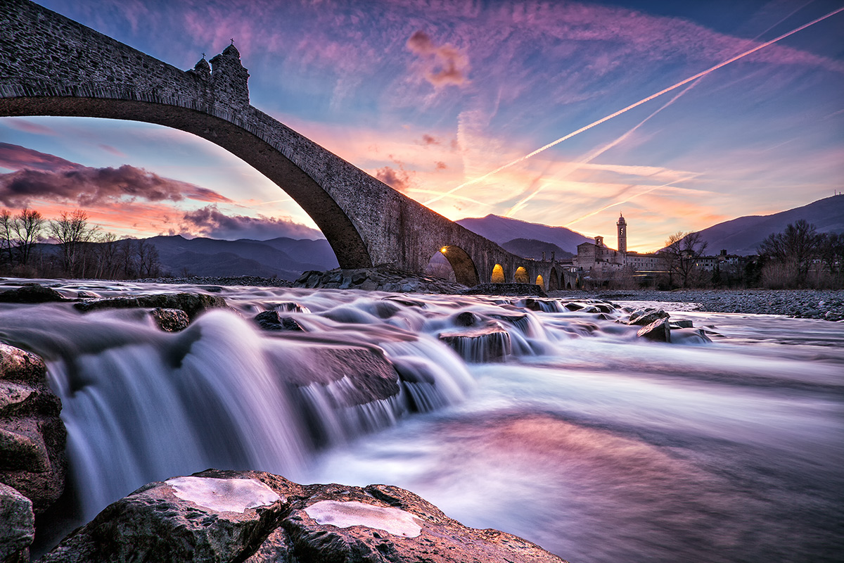 Gobbo Bridge at sunset...