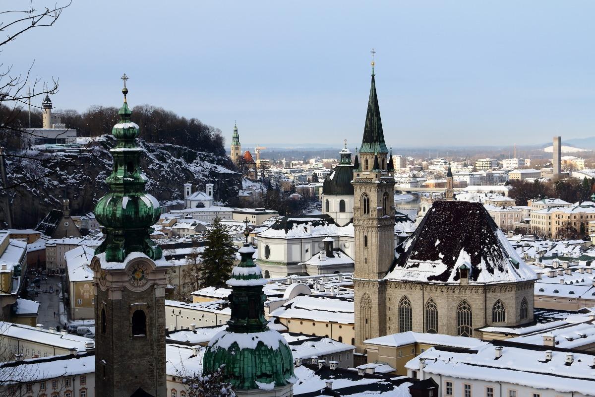 Salisburgo, le chiese dall'alto...