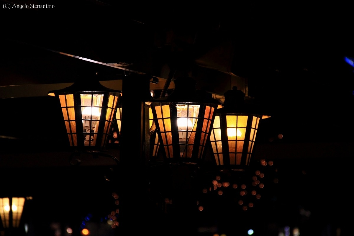The charm of the lanterns...