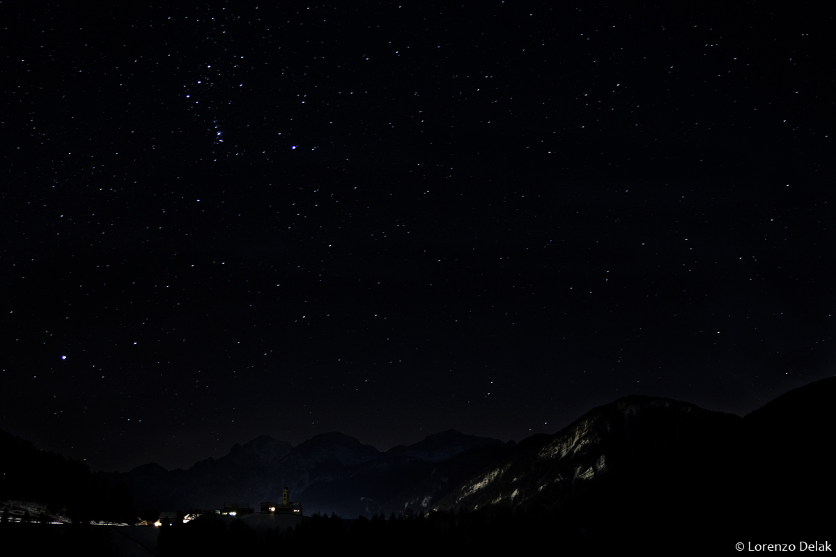 Night in the valley of Marebbe...