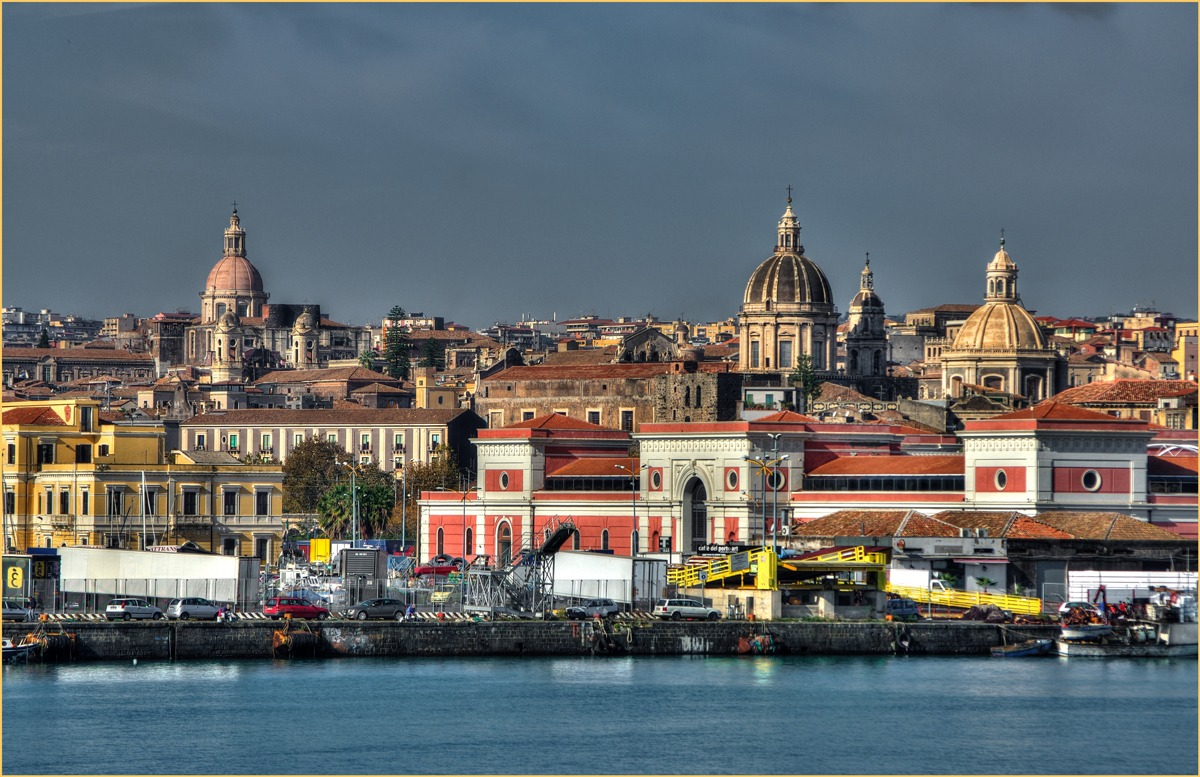 Catania, from the port....