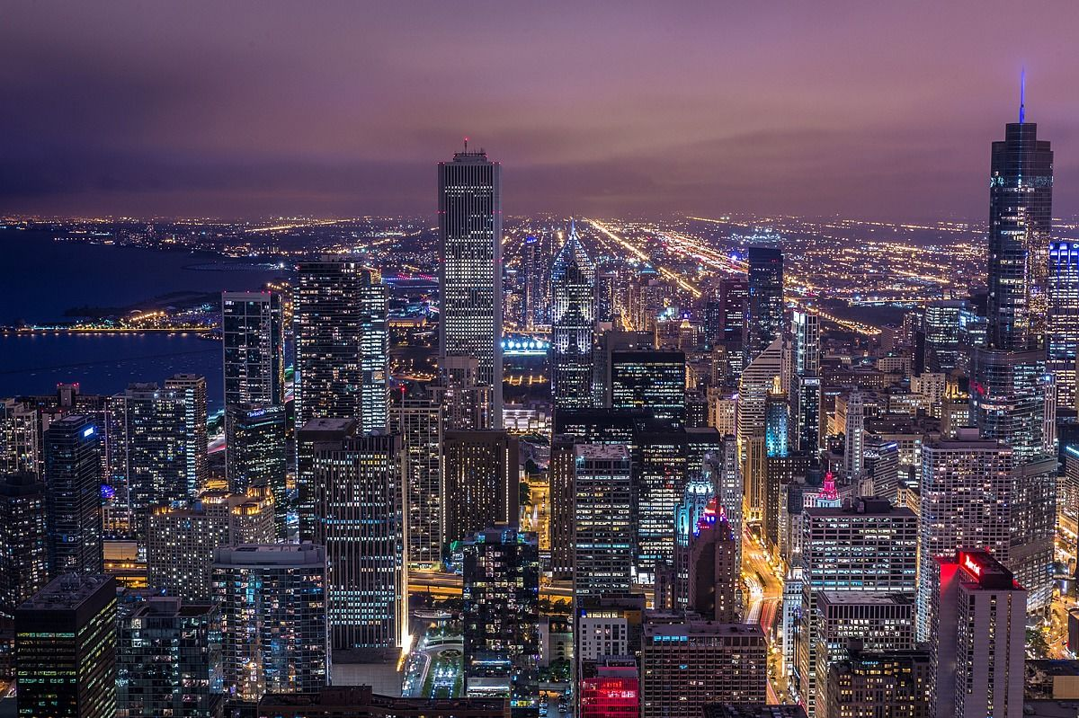 blue hour of Chicago...