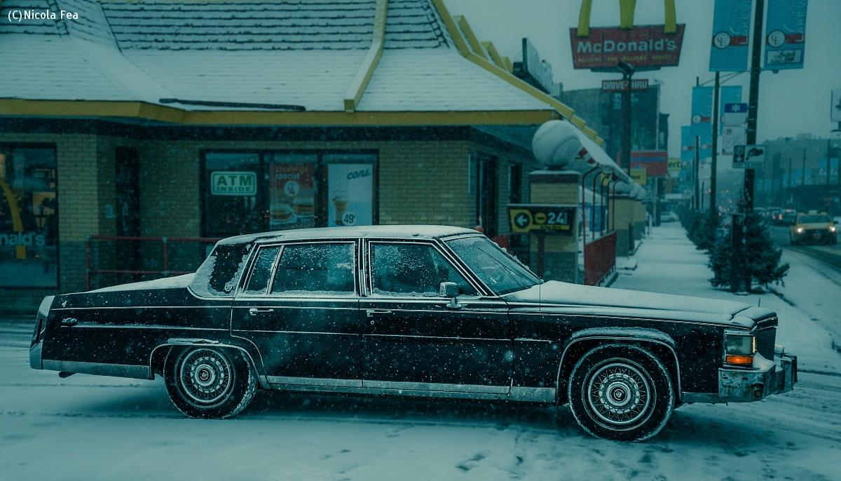 Frozen Cadillac Fleetwood...