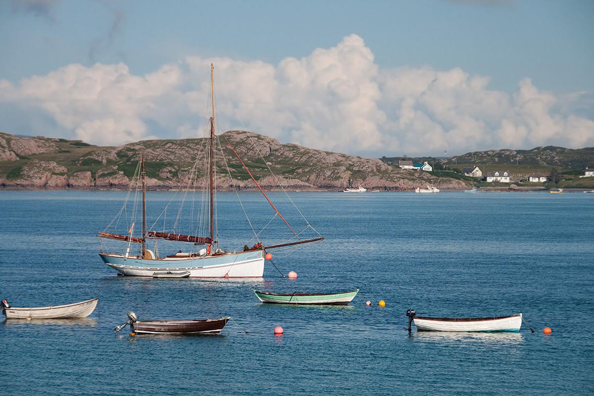 Boats at Iona...