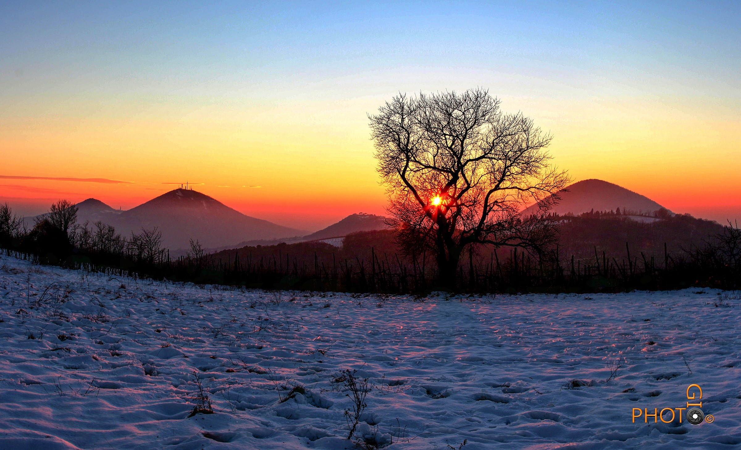 Sunset after the snowfall...