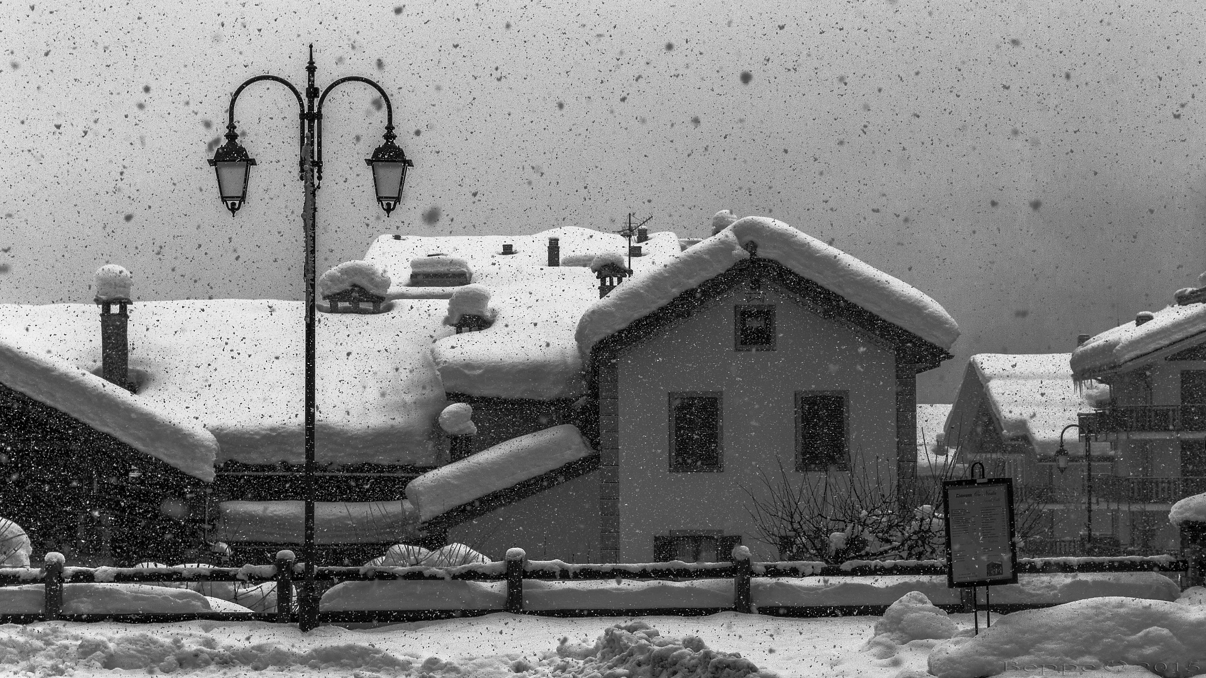 Snow as handkerchiefs...